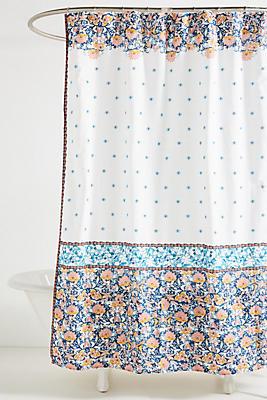 Slide View: 1: Louisa Shower Curtain
