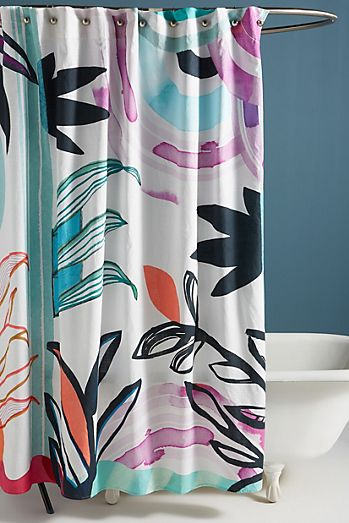 Brushed Blooms Shower Curtain