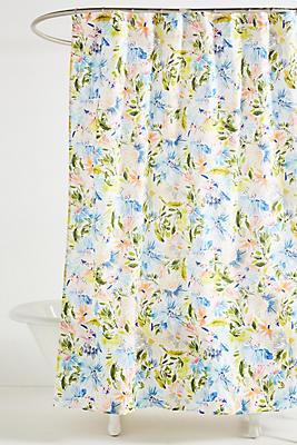 Slide View: 1: Lillian Farag Petal Splash Shower Curtain