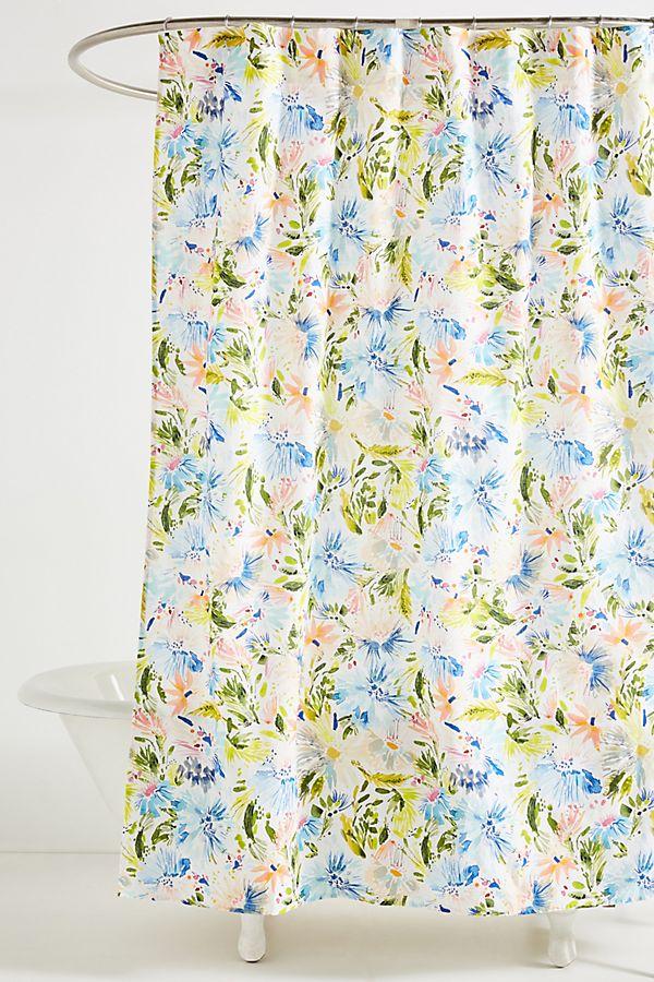 Lillian Farag Petal Splash Shower Curtain   Anthropologie