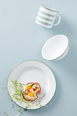Slide View: 2: Soho Home Hempton Enamelware Dinner Plate