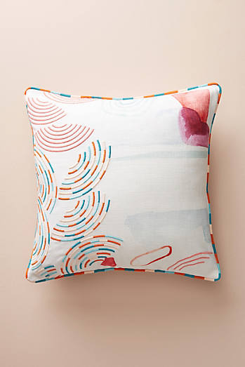 Abstract Watercolour Square Cushion