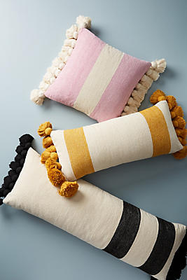 Slide View: 1: Tasseled Chenille Nadia Pillow