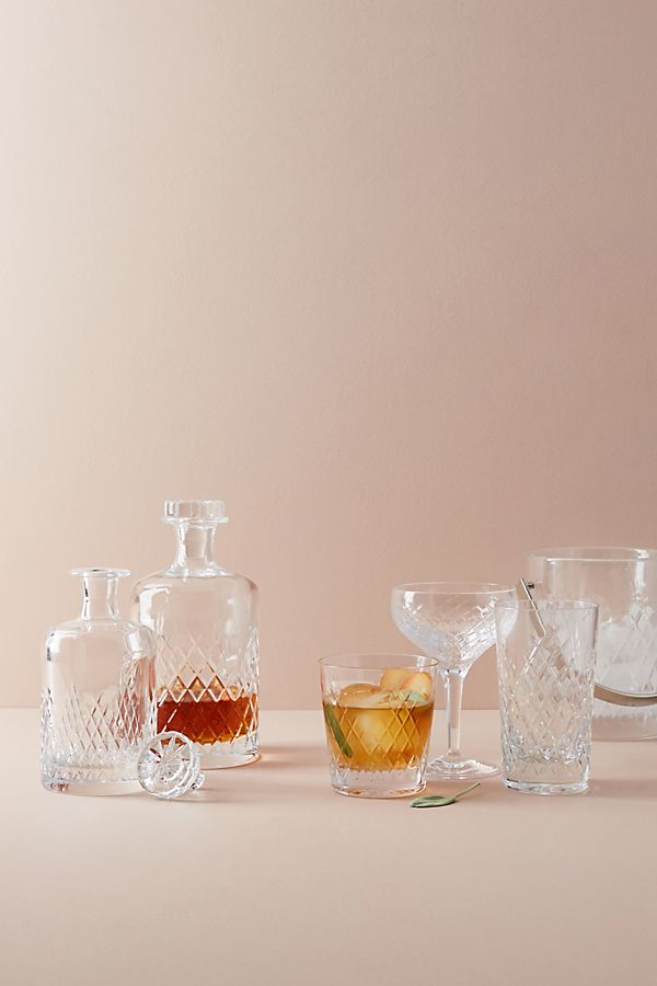 Slide View: 3: Soho Home Barwell Cut Crystal Large Decanter