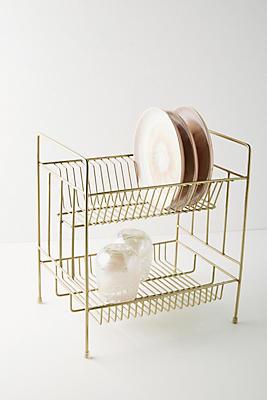 Slide View: 1: Brass Dish Drying Rack