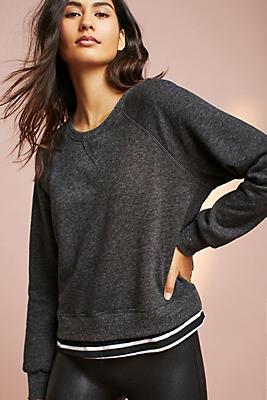 Slide View: 1: Sundry Layered Sweatshirt