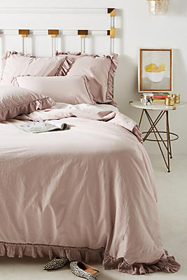 Slide View: 1: Ruffled Flange Duvet Cover