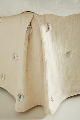 Slide View: 1: Embroidered Nikea Bed Skirt