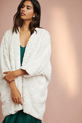 Slide View: 1: Faux Fur Cocoon Cardigan