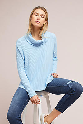 Slide View: 1: Brushed Cowl Neck Pullover