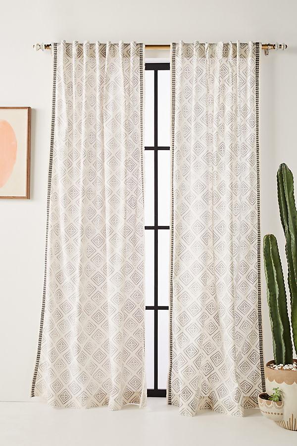 Mia Curtain - Grey, Size 50 X 84
