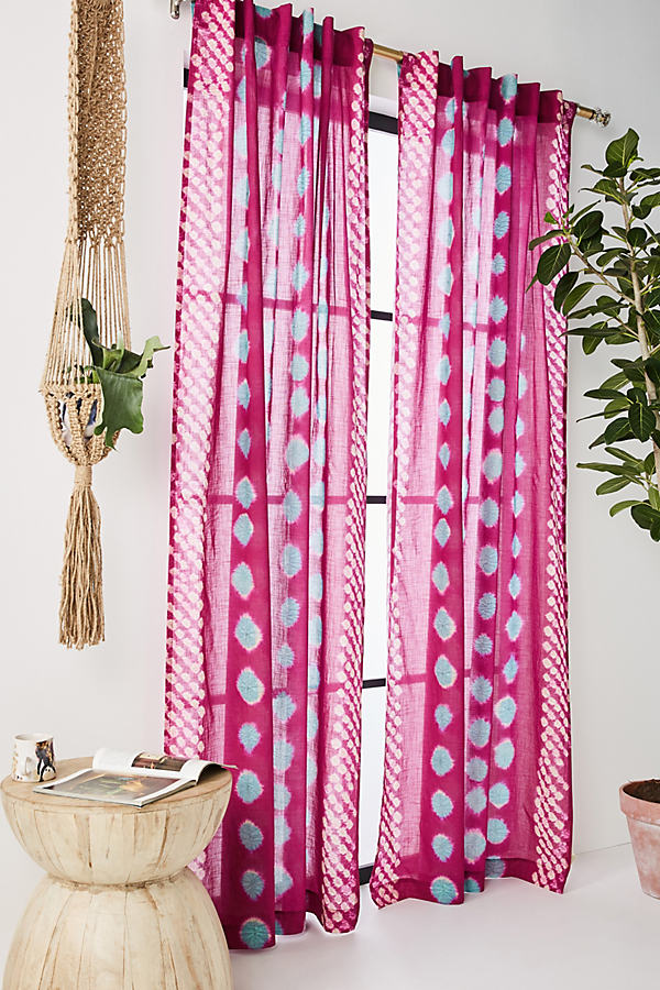 Bandi Dotted Curtain - Raspberry, Size 108""