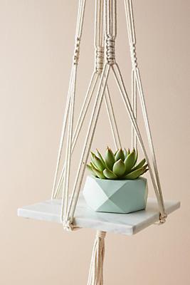 Slide View: 3: Hanging Marble Shelf