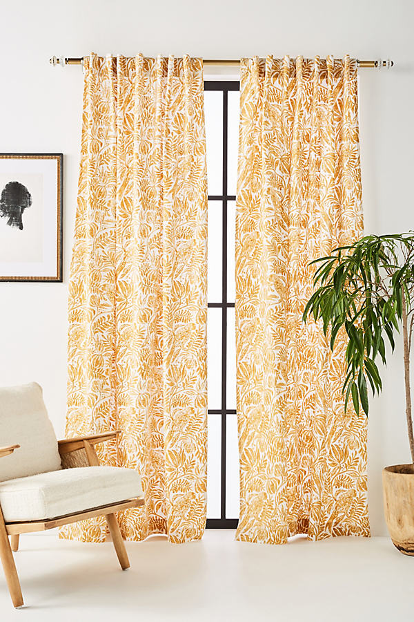Monica Curtain - Maize, Size 108""