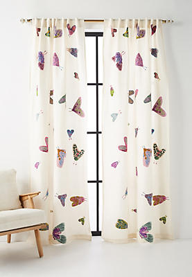 Slide View: 1: Embroidered Luella Curtain