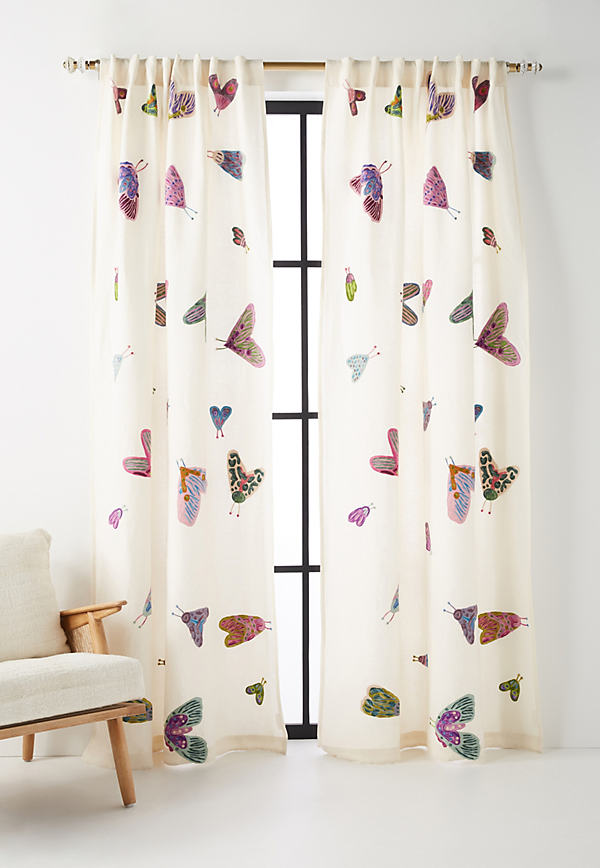 Embroidered Luella Curtain - A/s, Size 108""