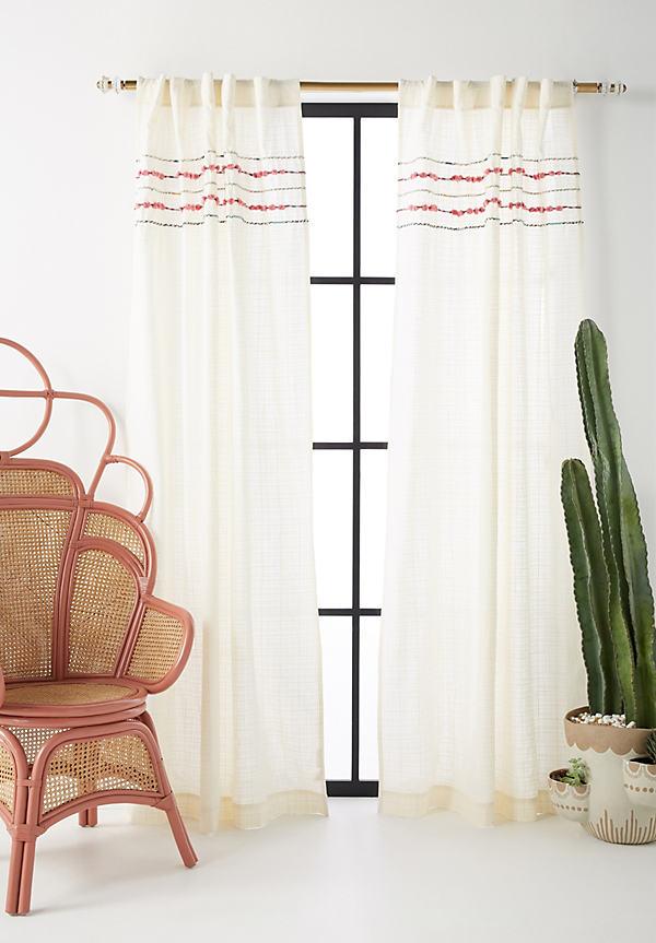 "Zina Curtain - Ivory, Size 108"""