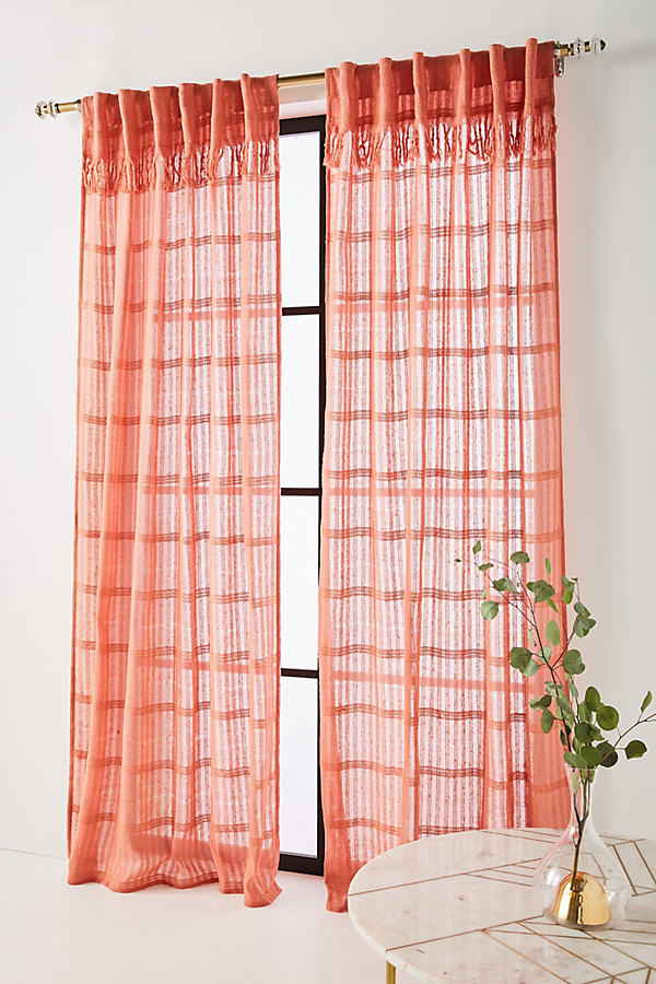 Anu Curtain - Light Red, Size 50 X 84