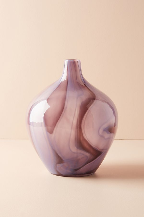 Slide View: 1: Swirled Glass Vase