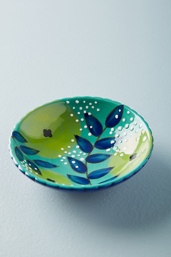 Kait Kelsey Floral Trinket Dish - Mint