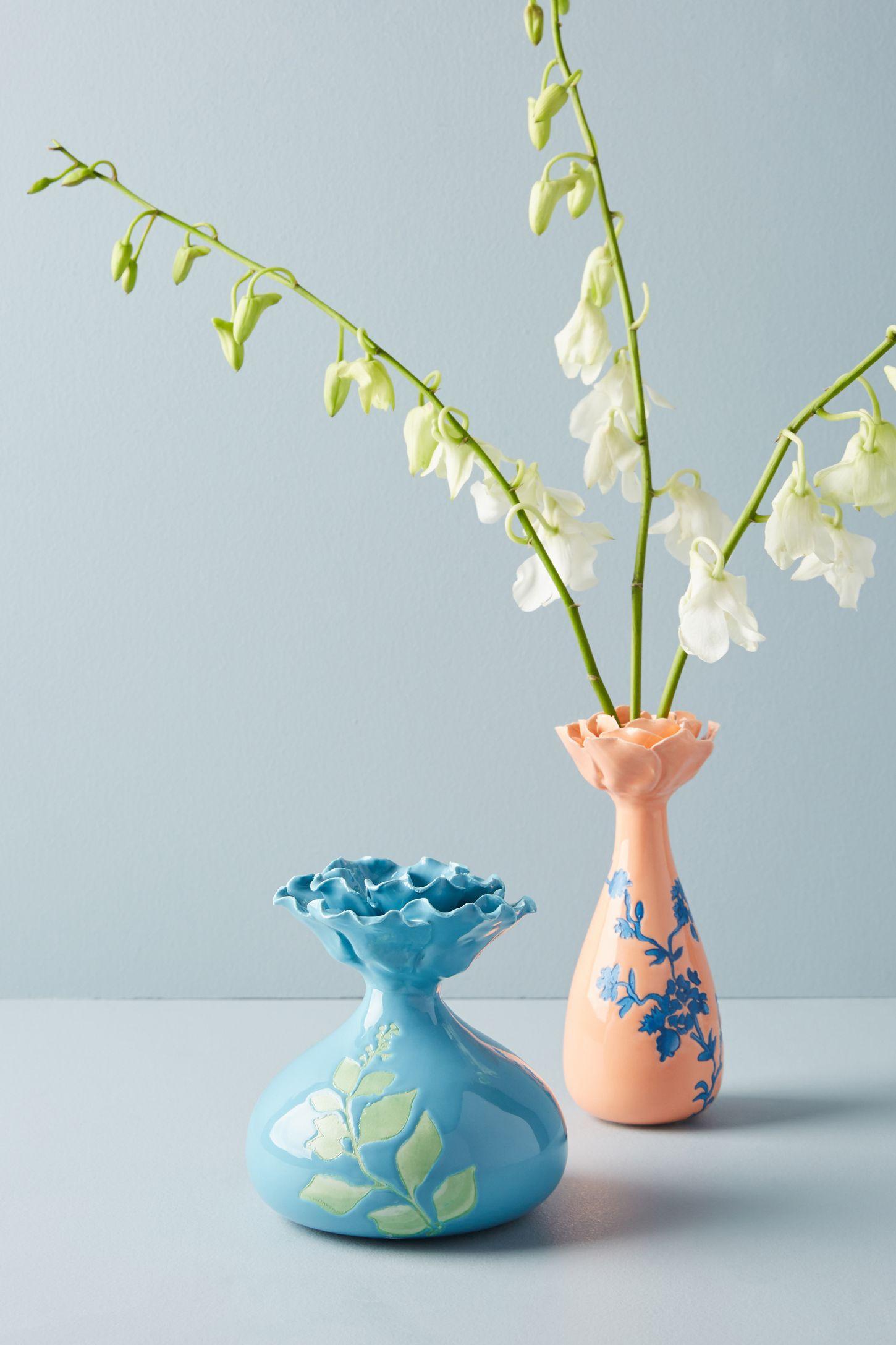 Blue unique modern decorative vases anthropologie blooming vase reviewsmspy