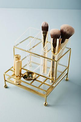 Slide View: 1: Faceted Vanity Organizer