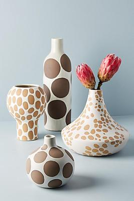 Slide View: 3: Spotted Ceramic Vase