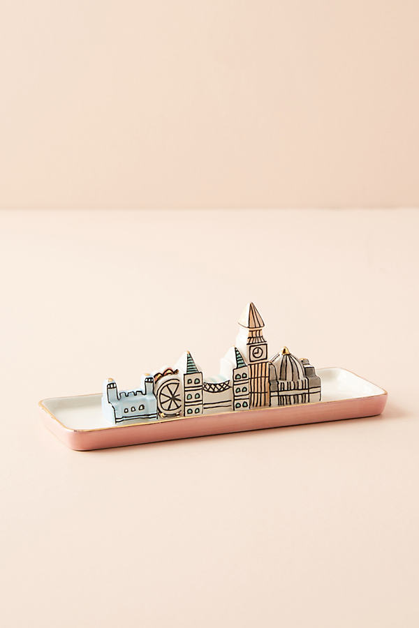City Trinket Dish - Pink