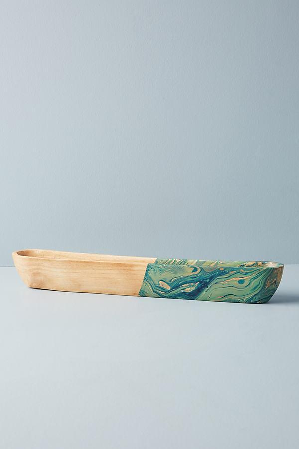 Betti Olive Serving Bowl - Blue Motif, Size Pasta