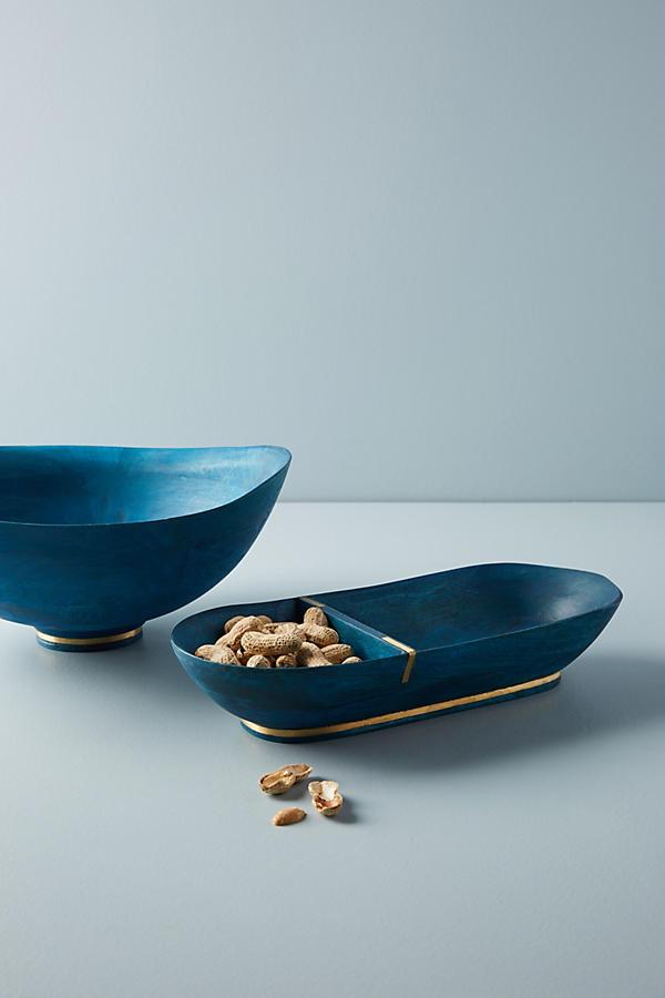 Slide View: 2: Wood Serving Bowl
