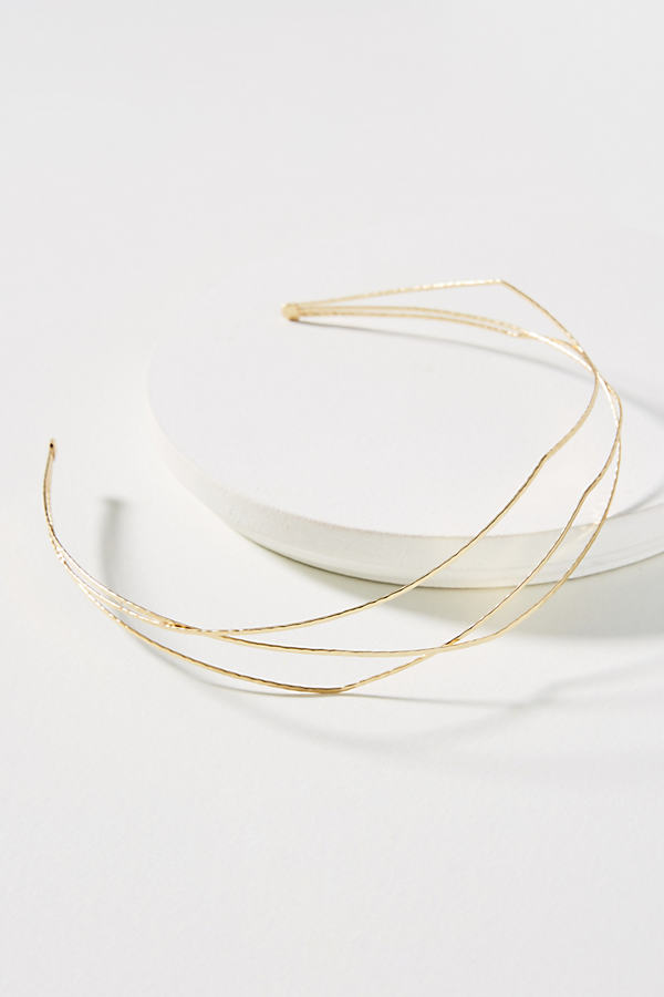Linear Waves Headband - Gold