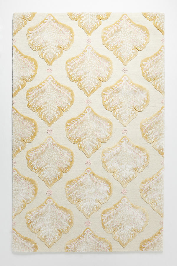 Tufted Foliage Rug - Maize, Size 5X8