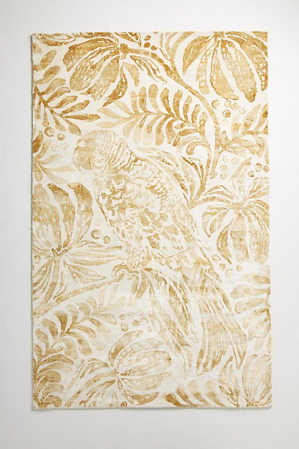 Tropical Treescape Rug - Maize, Size 5X8