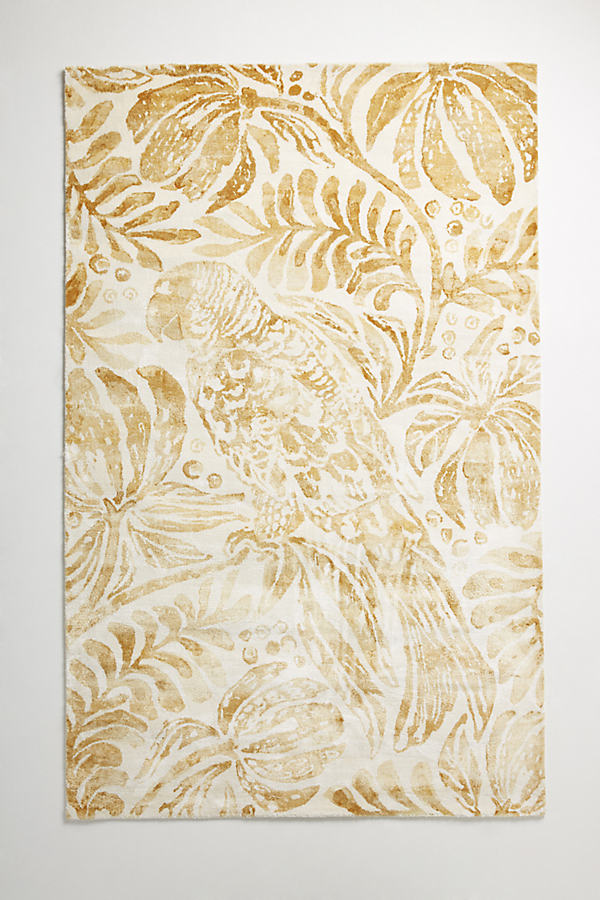 Tropical Treescape Rug Swatch - Maize, Size Swatch