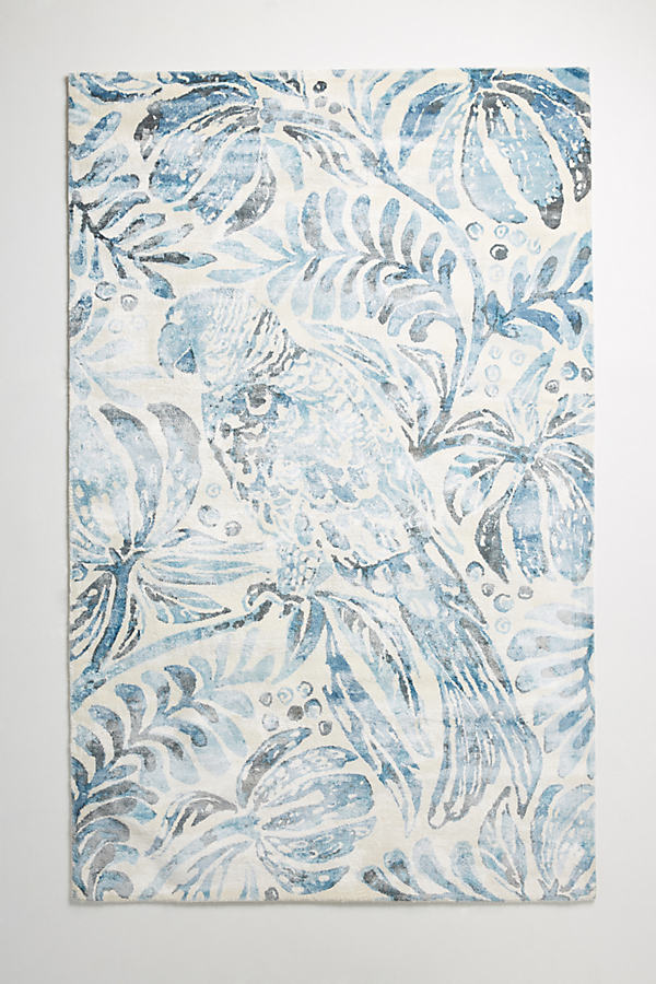 Tropical Treescape Rug Swatch - Dark Turquoise, Size Swatch