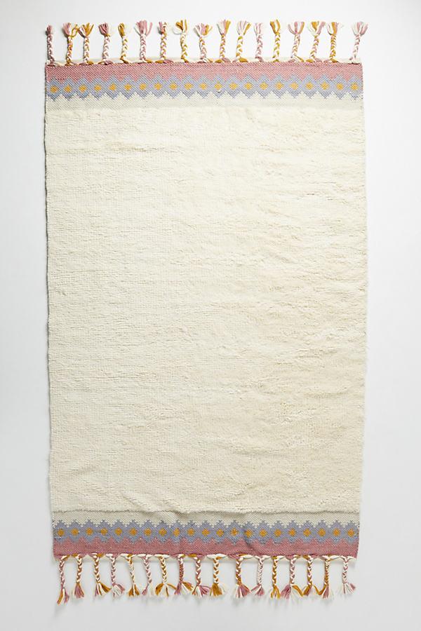 Tufted Ceren Rug - White, Size 5X8