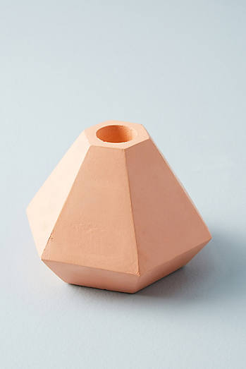 Faceted Concrete Taper Holder