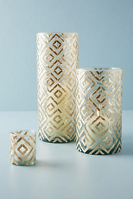 Slide View: 7: Herringbone Capiz Vessel
