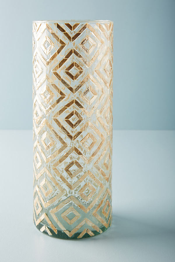 Herringbone Capiz Vessel - Neutral, Size L