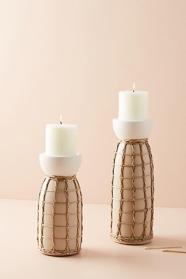 Wicker Pillar - Cream, Size M