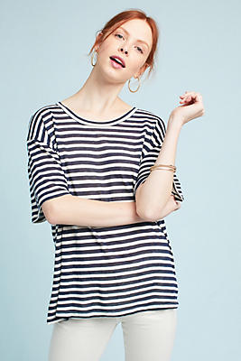 Slide View: 1: Striped Coastal Tee