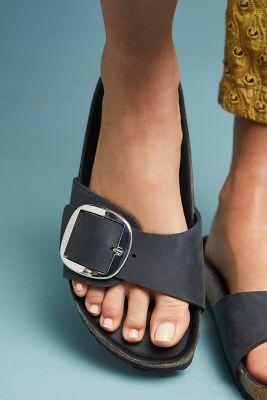 Birkenstock   Birkenstock Madrid Big Buckle Sandals  -    BLACK