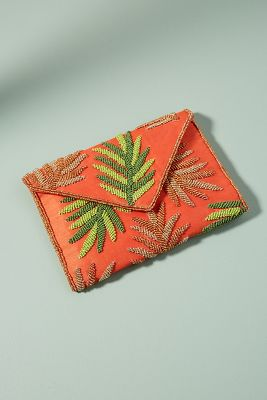 From St. Xavier   Beachbound Clutch  -    ORANGE