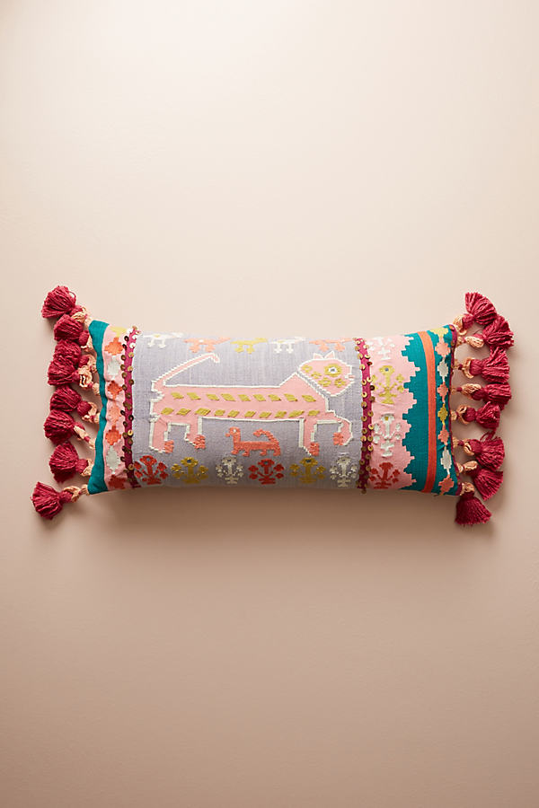 Elsie Embellished Cushion - A/s, Size 12 X 27
