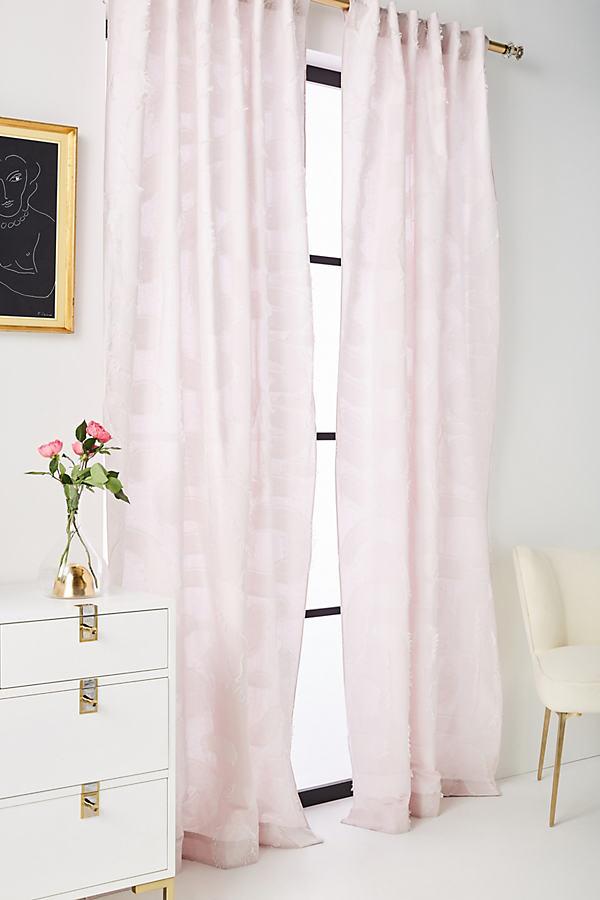 Woven Zala Curtain - Pink, Size 50 X 84
