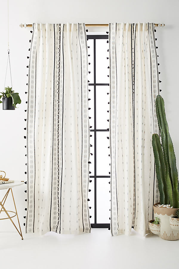 Araya Curtain - Black & White, Size 108