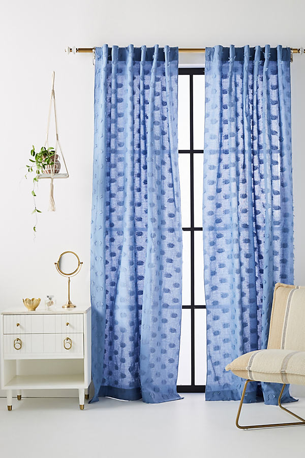 "Nala Jacquard Curtain - Slate, Size 108"""