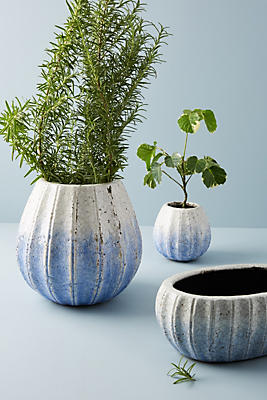 Slide View: 7: Glazed Indigo Pot