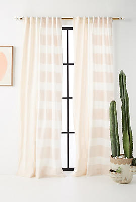 Slide View: 1: Woven Rayas Curtain