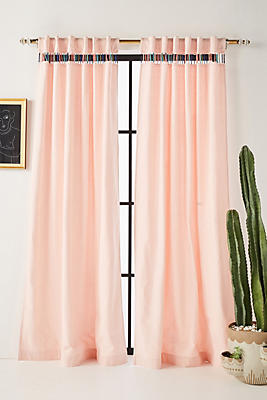 Slide View: 1: Embroidered Pibar Curtain